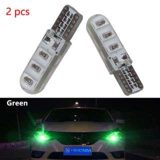 Green T10 W5W 6 SMD Canbus Silica Gel LED Super Bright (1 Pair)