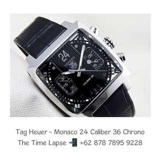 Tag Heuer - Monaco 24 Caliber 36 Black Dial Chronograph