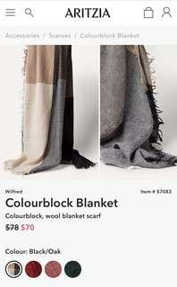 Wilfred Colorblock Wool Blanket Scarf