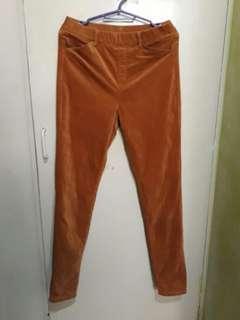 Uniqlo velvet mustard pants