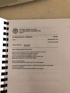 H3 Pharma Chem Past Year School Papers