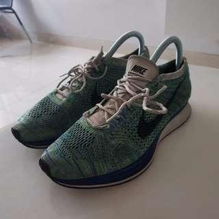 NIke Flyknit Racer Game Royal Green Strike Tranquil NO BOX