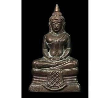 Auth Thai amulet bronze small Buddha Roop lor Long Phor Sothorn Phra Putta Sothon Wat Sorthon 2560 April