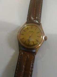老古董玫瑰金上鍊瑞士手錶,新凈,走動
