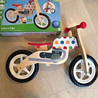 BRAND New ELC Wooden Balance Bike Toy [Perfect for learning balance, co-ordination for early toddlers!]