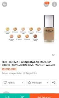 Foundation ultima ll wonderwear make up