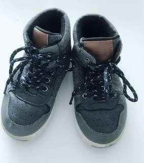 Boy High-Cut Lace-up Sneakers