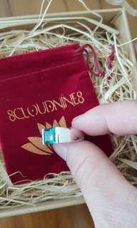 Pre order item arrived. Lab create Emerald set in Silver