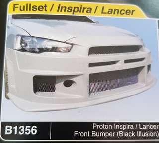 Proton Inspira/Lancer Black Illusion front bumper