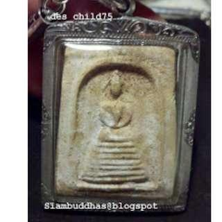 Thailand amulet Auth Somdej by Long Phor Jarun Wat Promburii 2496 first batch / 泰国佛牌龙铺加然瓦破不哩 2496 第一期顺德