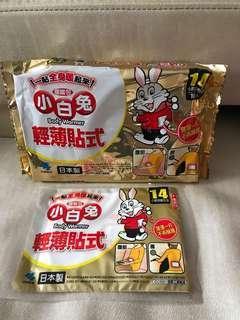 🚚 日本製 小白兔輕薄貼式暖暖包