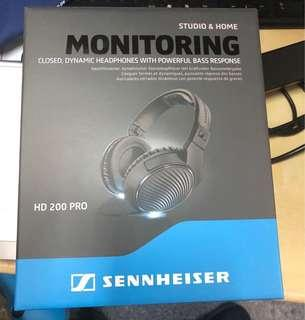 全新香港行貨Sennheiser HD200 Pro Headphone