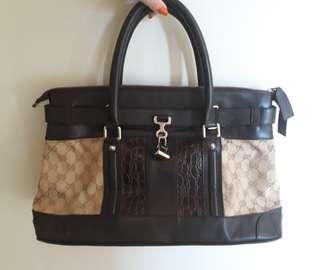 1527ce04049 Gucci Monogram Print High Quality Replica Handbag