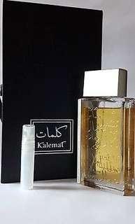 "Arabian Oud ""Kalemat Black"" - EDP 5ml Sample Spray EDP Perfume Oudh"