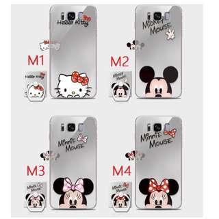 Samsung Galaxy S8 / S8 Plus Red Minnie Mouse with iRing Case