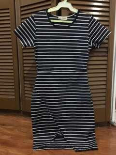 Navy Blue Stripes Dress
