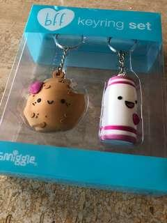 Collectable Smiggle bff Keychains Set