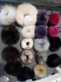 100% Real Fur accessories 皮草頭飾