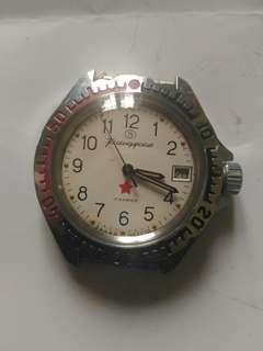前苏联軍錶,自動,防水,日历,走動正常新錶,有興趣出价私聊
