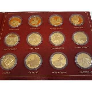 SGP 24K Gold Nation Building Collection Medals
