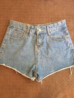 Denim shorts size small