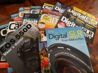 Photography books and magazine