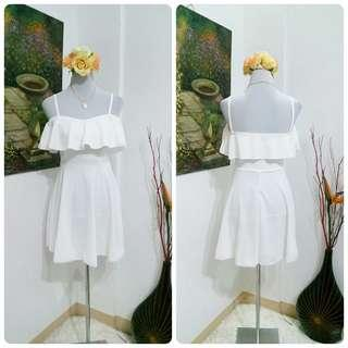 🌺 Classy White Mini Dress