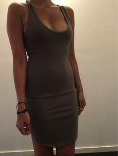 Kookai khaki dress 1