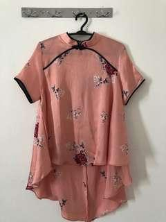 Cheongsam Pink Top