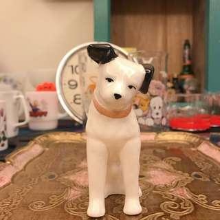 日本 中古 收藏 HMV狗 JVC VICTOR 陶瓷 小型 勝利狗 (11公分)