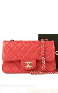 🚚 👑正品保證1000萬理賠保險👑 原價15萬 全配 Chanel 香奈兒 經典菱格紋 羊皮鍊帶 MINI COCO肩背包