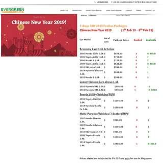 7-Days CNY 2019 Festive Packages (1St Feb 19 – 8th Feb 19)