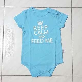 BN Keep Calm & Feed Me Baby Romper