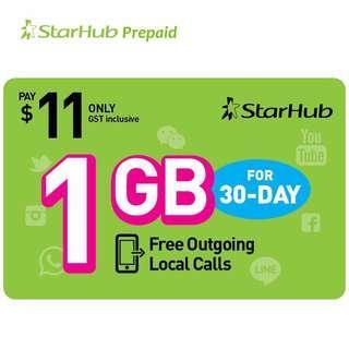 STARHUB Prepaid 1GB Data