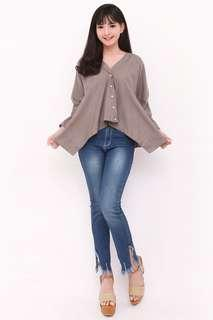 Clarissa Button Blouse