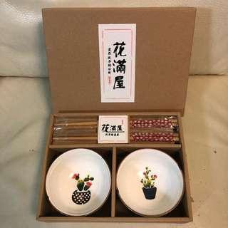 送禮自用 花滿屋 瓷器 純手繪彩制 碗筷系列