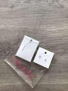 BNIP Earrings and necklace