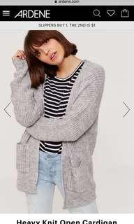 Grey cardigan! Size medium