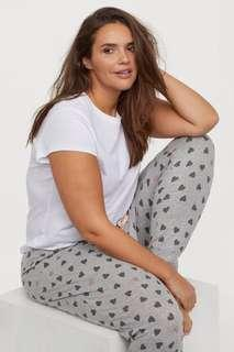 SALE: H&M Soft pajama bottoms pants • authentic • gray black pink heart