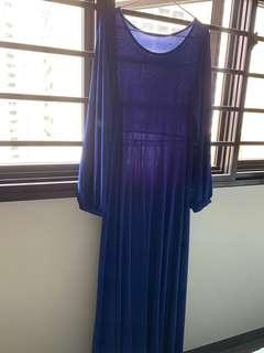 Royal Blue A Line Dress (XL)