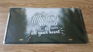 Home decor - metal plate signs