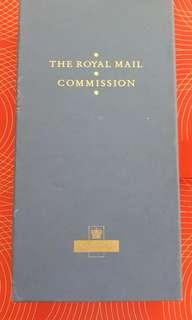 The Royal Mail Commission 25th years award mint in box with letter of certificate