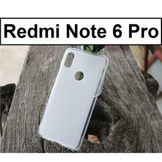 Xiaomi Redmi Note 6 Pro Matte Transparent Crystal Clear Case
