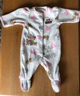 Carters New born fleece onsie / romper