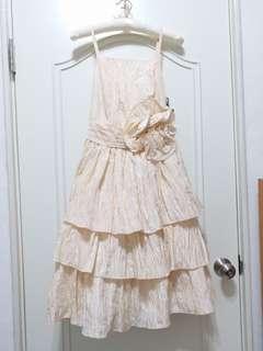 🚚 Gracieu 小禮服 / 伴娘服 / 洋裝 / 蛋糕裙 / 婚宴 / 尾牙 / Party / 鵝黃色   Size:M~L