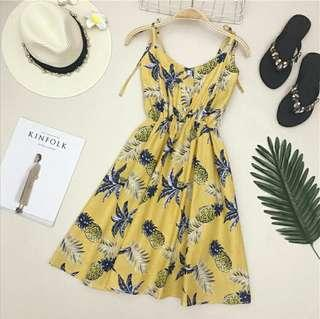 🚚 (3col) ashlynn floral summer holiday button down dress