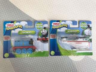 Brand New Fisher Price Thomas the Train & Harold the Helicopter Die-Cast Metal Collectible Figurine Toys w Metal Engine [Explore & Imagine, Pretend Play, Thomas and Friends]