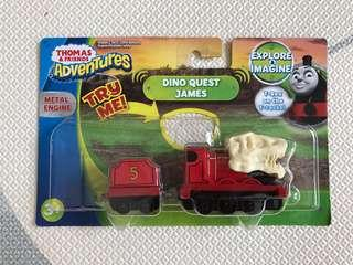 Brand New Thomas & Friends Die Cast Metal Collectible figurine Toy - Dino Quest James with Sound! Fisher Price adventures, Pretend Play