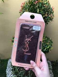 Pink YSL Glitter Hard Case for iPhone 7+