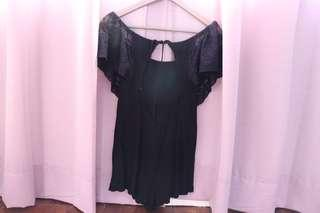 Bareback black jumpsuit